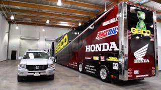David Pingree takes you on a tour through the GEICO Honda race shop...