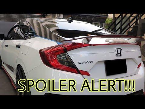 16 18 Civic Si Spoiler Install Ikon R Style Youtube