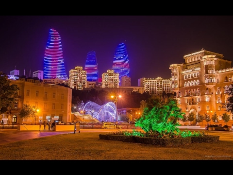 Чудесная Прогулка по Ночному Баку..2017