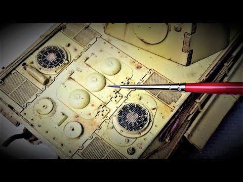 Make Your Models POP!  Easy Beginner Weathering Tutorial for a Pinwash on Model Tanks