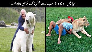 7 Most Unusual Pets In The World Urdu | دنیا میں موجود خطرناک ترین پالتو جانور | Haider Tv