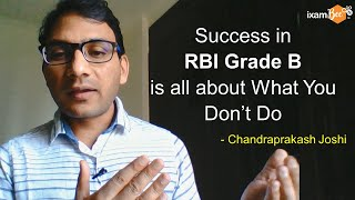 Mistakes to avoid for RBI Grade B preparation