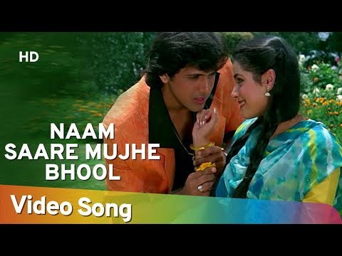 Naam Saare Mujhe Bhool - Govinda - Neelam - Sindoor - Lata - Mohd Aziz - Best Hindi Songs