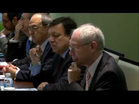 Trilateral meeting: Barroso - Van Rompuy - Japanese PM