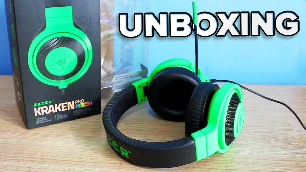 Unboxing Headset Razer Kraken Pro Neon Com Novidades