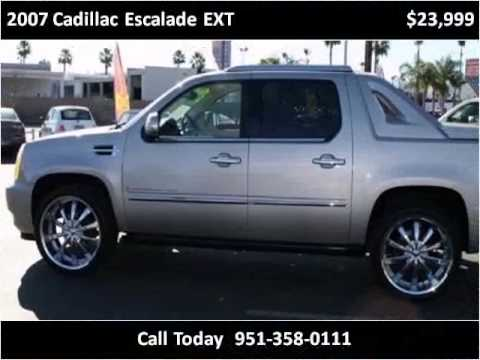 2007 cadillac escalade ext used cars riverside ca youtube. Black Bedroom Furniture Sets. Home Design Ideas