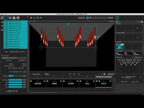 DEMO Syphon/Spout Loopback on LEDs with MadMapper 3 - YouTube
