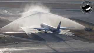 Llegada del primer Boeing 787-9 Dreamliner de LAN Airlines a SCL