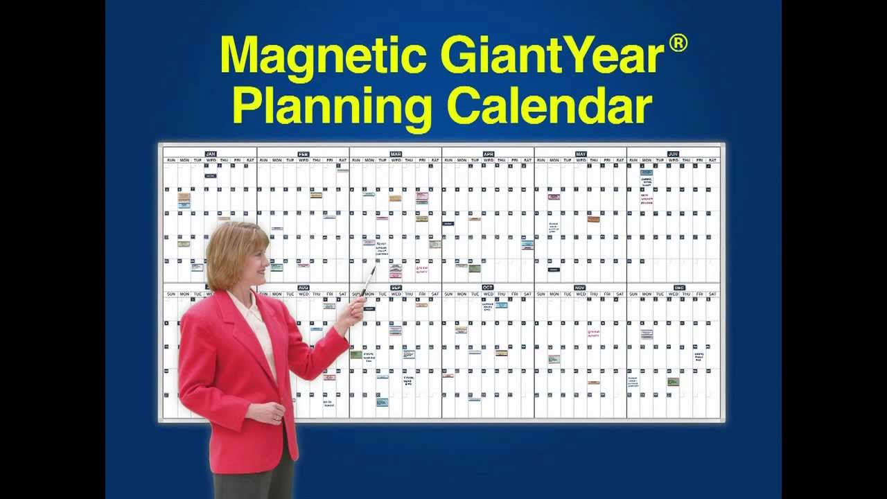 Year Calendar Magnetic : Giant year classic day planning calendars magnetic