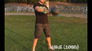 Fun with the Beast (48kg/106lb Kettlebell)