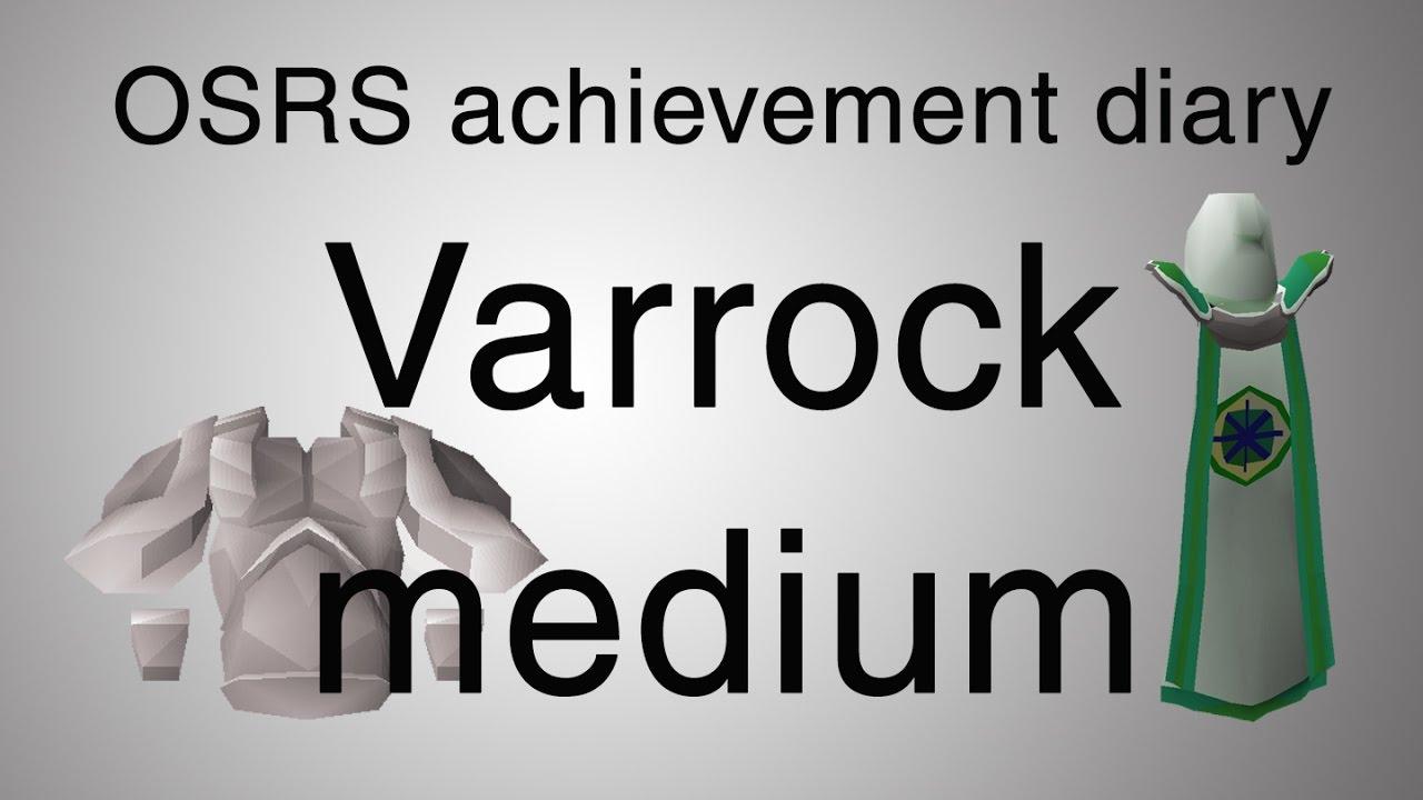 [OSRS] Varrock medium diary guide