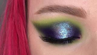 Halo eyes makeup tutorial sparkle blue eye makeup макияж глаз szem smink