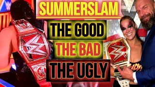 WWE SummerSlam: The Good The Bad & The Ugly | Roman Reigns & Ronda Rousey Celebrate A Huge Night!!