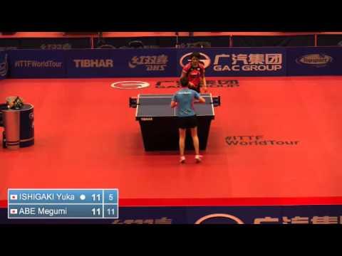 2014 Belgium Open WS QF ISHIGAKI Yuka JPN vs ABE Megumi JPN