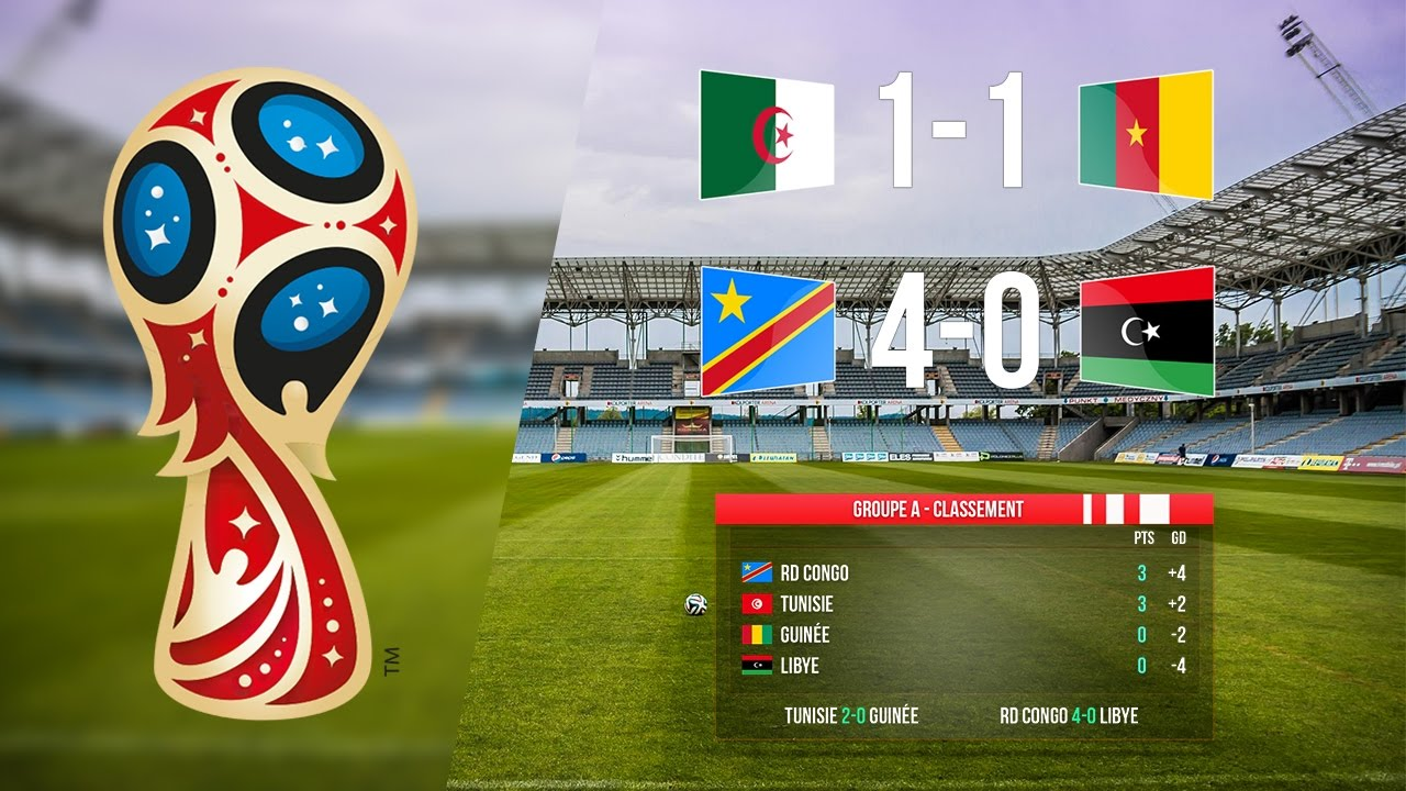 Eliminatoires coupe du monde 2018 r sultats classeme - Resultat foot eliminatoire coupe du monde ...