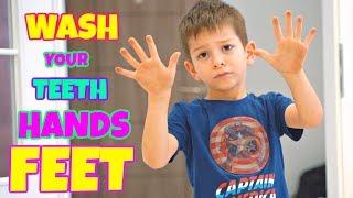 Wash Your Hands I Wash Your Feet I Wash Your Teeth I Nursery Rhymes & Kid Songs By KLS