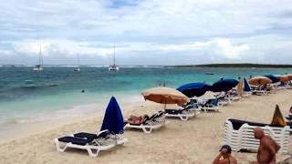 Nude beach St.Martin Caribbean Sea