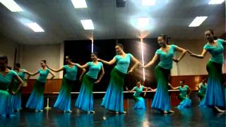 2012 Beijing Dance Academy Chinese Folk Dance Exam part 2 (Girls Dai Dance)