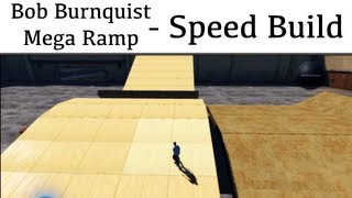 Skate.park Speed Build - Bob Burnquist's Mega Ramp