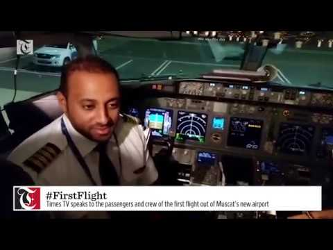 Times TV speaks to the passengers and crew of the first flight out of Muscat's new airport