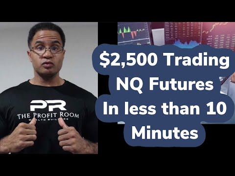 How To Day Trade Futures Live!  NASDAQ – NQ $2,500 Profit in 10 min
