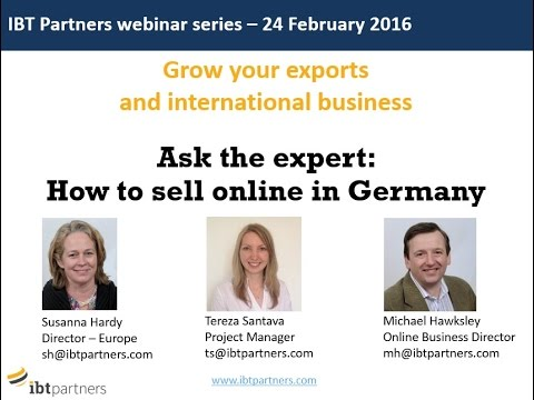 Webinar: How to sell online in Germany