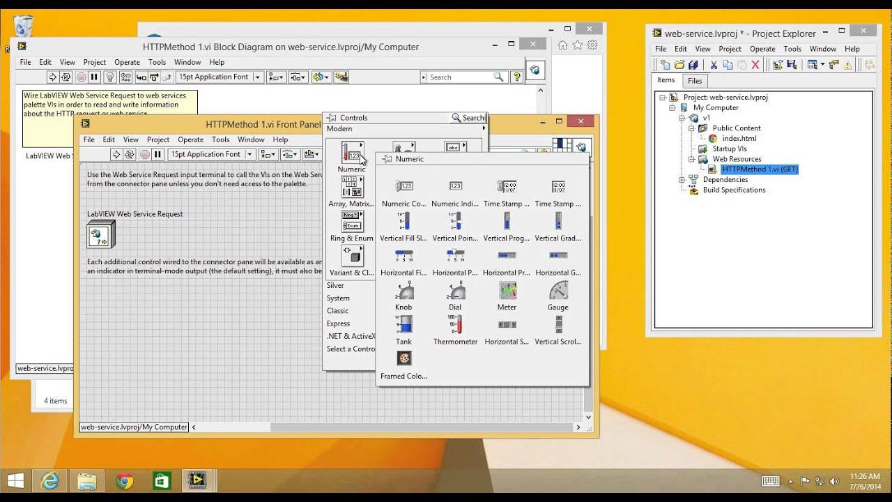 LabVIEW Web Services - adhoc application demo