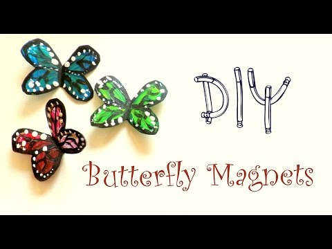 DIY Butterfly Magnets using a plastic bottle   Plastic Bottle Crafts Ideas  by Fluffy Hedgehog