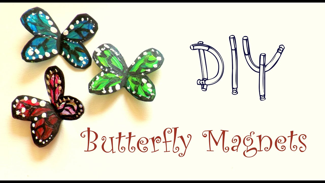 DIY Butterfly Magnets using a plastic bottle   Plastic ...