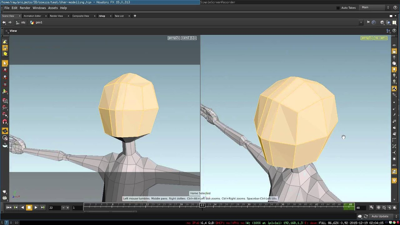 Modeling 3d cartoon character topology