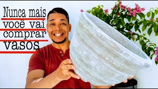 Técnica e Macete para Fazer Vasos de Cimento Perfeitos
