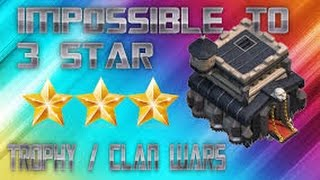 Town Hall 9 THREE STAR War Attack Strategies for 3 star   clash of clans hall 9 video HD