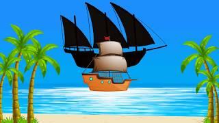 Мультфильм для детей. Учим Силуэты. Перепутали - Водные Виды Транспорта.
