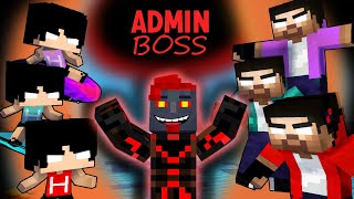 ADMIN BOSS VS 3 HEROBRINE AND HEEKO - ALL EPISODE ( COOL MINECRAFT ANIMATION )