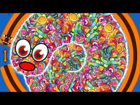 WORMSZONE.IO 001 MEGA BIG SLITHER SNAKE TOP 01 / Epic Worms Zone Best Gameplay! #44