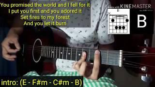 Selena Gomez - Lose You To Love Me cover - Guitar Cover NO CAPO (with Lyrics & Chords) Tutorial