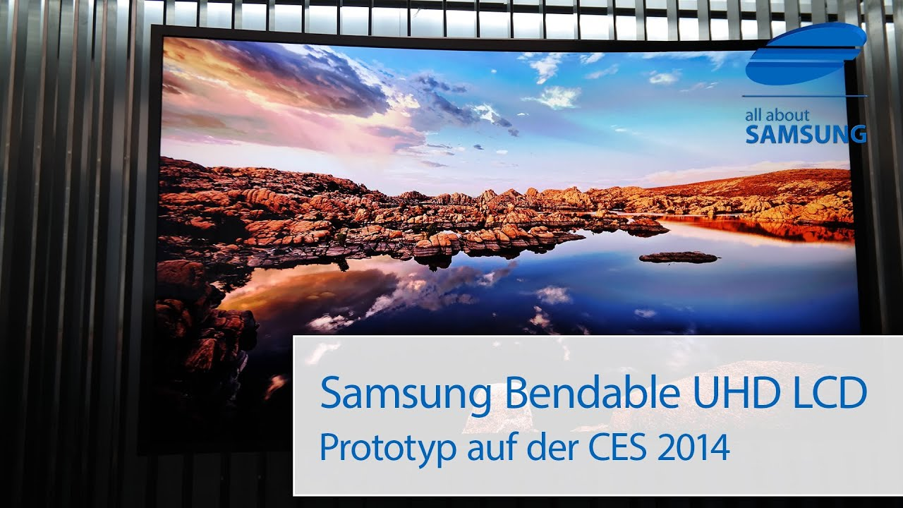 Samsung Bendable 85 Zoll UHD LCD Eyes On Auf Der CES 2014