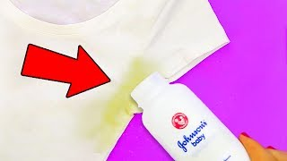 THE 25 SIMPLEST WAYS TO GET RID OF COMMON STAINS