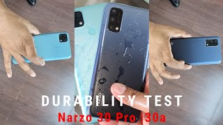 realme Narzo 30 Pro & 30a Durability Test | Water & Drop Test