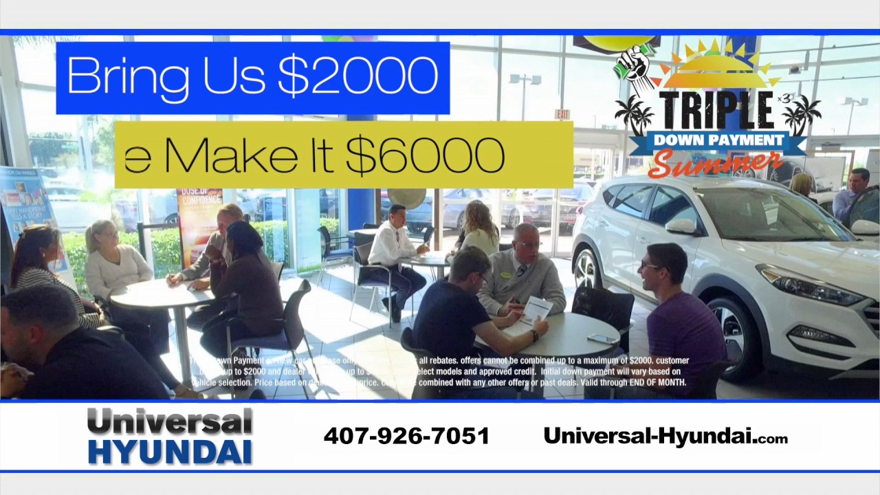 Universal Hyundai   How Would You Like To TRIPLE Your Money?!