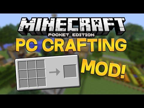 Minecraft PE 0.13.0 PC CRAFTING MOD! (Pocket Edition)