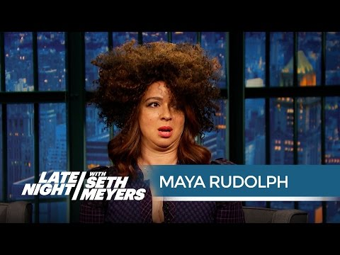 Maya Rudolph's Rachel Dolezal Impression  Late Night with Seth Meyers