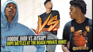 Dior Johnson Gets BUCKETS in Hoodie & Pajamas! Josh Christopher & Mobley Bros GO AT IT at Beach Runs