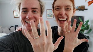 MAKING IT OFFICIAL (we got wedding rings)