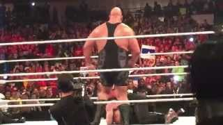 Sting Raw Appearance Dallas Texas 01/19/15 (Insane Reaction) LIVE In the crowd.