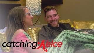 Travis Kelce Accidentally Insults Victoria's Outfit | Catching Kelce | E!