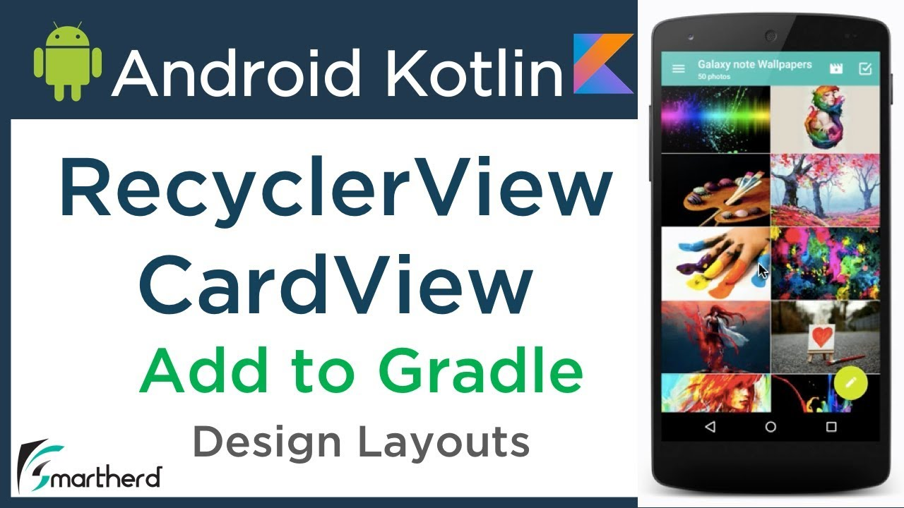 #3 2 Android Integrate RecyclerView and CardView Dependency in Gradle   Android Kotlin Tutorial