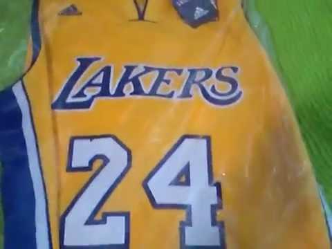unboxing camisa basquete Lakers swingman