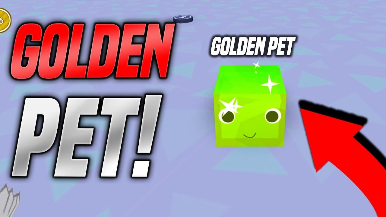 I GOT A GOLDEN PET IN PET SIMULATOR UPDATE!! *RAREST* (Roblox)