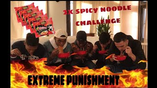 EXTREME SPICEY NOODLE CHALLENGE!!!(GONE WRONG)